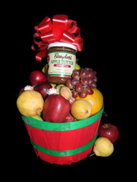Farm Fresh Fruit Baskets with Apple Butter from Baughers Market