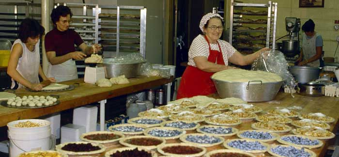 Baugher's modern bakery was built in 1981. All the pies, dinner rolls, sweet breads, and fudge that you enjoy at Baugher's are made fresh here every day.