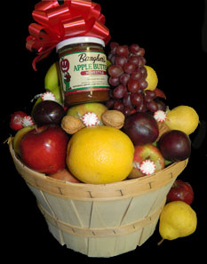 Half Bushel Fruit Basket from Baugher's Fruit Market makes a great gift.
