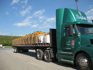 A baugher's truck headed out to deliver farm fresh produce for regional sales